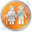 Nursing Home Circle Orange Icon