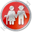 Nursing Home Circle Red Icon