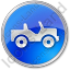 Off Road Vehicle Circle Blue Icon, PNG/ICO, 64x64