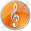 Orchestra Circle Orange Icon, PNG/ICO, 64x64
