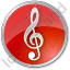 Orchestra Circle Red Icon