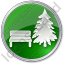 Park Coniferous Tree Circle Green Icon