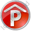 Parking P Covered Circle Red Icon