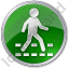 Pedestrian Crossing Circle Green Icon