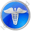 Pharmacy Caduceus Circle Blue Icon