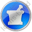 Pharmacy Mortar And Pestle Circle Blue Icon