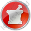 Pharmacy Mortar And Pestle Circle Red Icon