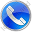Phone Circle Blue Icon