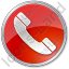 Phone Circle Red Icon
