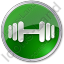 Physical Exercises Circle Green Icon