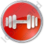 Physical Exercises Circle Red Icon