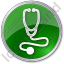 Physician Stethoscope Circle Green Icon