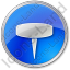 Pin Circle Blue Icon