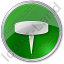 Pin Circle Green Icon, PNG/ICO, 64x64