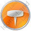 Pin Circle Orange Icon