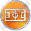 Pitch Circle Orange Icon