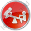 Playground Kids Circle Red Icon, PNG/ICO, 64x64