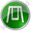 Playground Swing Circle Green Icon, PNG/ICO, 64x64