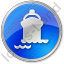 Port Ship Circle Blue Icon, PNG/ICO, 64x64