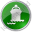 Port Ship Circle Green Icon