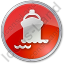 Port Ship Circle Red Icon, PNG/ICO, 64x64