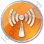 Radio Circle Orange Icon
