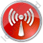 Radio Circle Red Icon