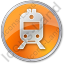 Railway Station Circle Orange Icon