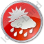 Rain Occasional Circle Red Icon, PNG/ICO, 64x64