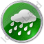 Rain Circle Green Icon, PNG/ICO, 64x64