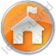 Ranger Station Circle Orange Icon