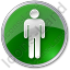 Restroom Men Circle Green Icon
