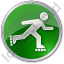 Roller Skating Circle Green Icon