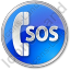 SOS Circle Blue Icon