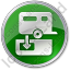 Sanitary Disposal Station Circle Green Icon