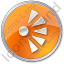 Scenic View Point Circle Orange Icon