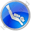 Scuba Diving Circle Blue Icon, PNG/ICO, 64x64