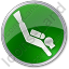 Scuba Diving Circle Green Icon