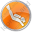 Scuba Diving Circle Orange Icon