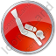Scuba Diving Circle Red Icon