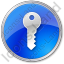 Security Circle Blue Icon