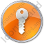 Security Circle Orange Icon, PNG/ICO, 64x64