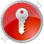 Security Circle Red Icon