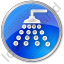 Shower Circle Blue Icon
