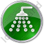 Shower Circle Green Icon