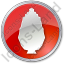 Shrub Circle Red Icon