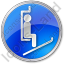 Ski Lift Chairlift Circle Blue Icon