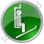 Ski Lift Chairlift Circle Green Icon