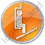 Ski Lift Chairlift Circle Orange Icon