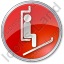 Ski Lift Chairlift Circle Red Icon